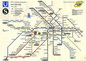 Netzplan S Bahn Galeriede