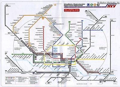 Netzplan Hvv S Bahn Hamburg